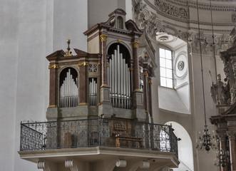 Salzburg Dom cathedral organ, Austria.