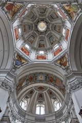 Salzburg Dom cathedral interior, Austria.