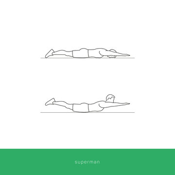Fitness Icon superman workout. Vector design.