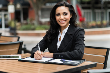 Young Businesswoman Outdoors