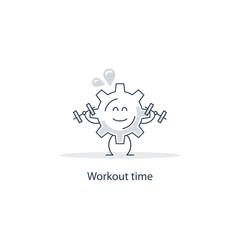 Workout gear wheel