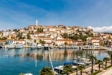 Vrsar Village With Church Tower-Istria,Croatia