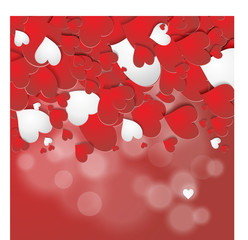 Heart valentine  vector background, Love background with red hearts