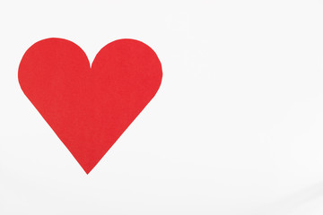 Valentines day card- heart made on white background.