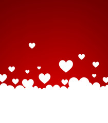 Fototapete - Background with white hearts.