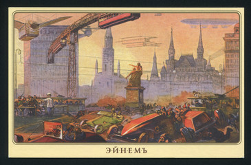 Russia postcard Moscow future