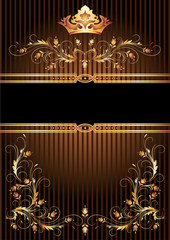 Luxurious golden ornament and crown