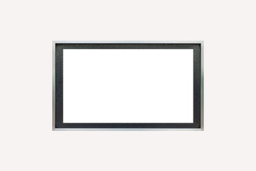 Blank metal building name plate isolate on white background