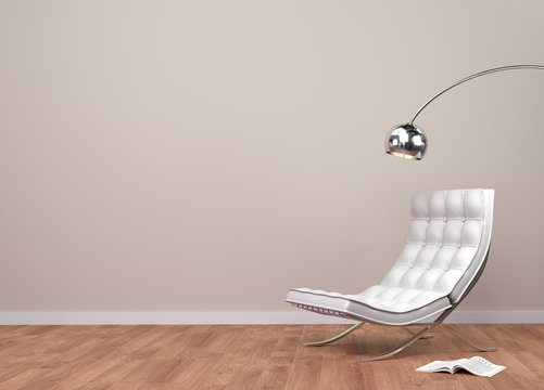 interior wall with classic chair