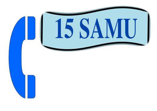 appel téléphonique d'urgence,15 le samu