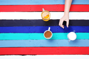 beverage for all lifestyle with colorful background.