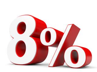 Discount 8 percent off.
