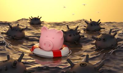 Sparschwein Ersparnisse retten