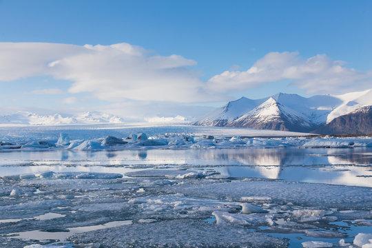 Jakulsarlon lagoon during winter, Iceland
