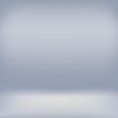 Grey studio room backdrop background. Empty interior mockup with soft light. Mock up template product display.