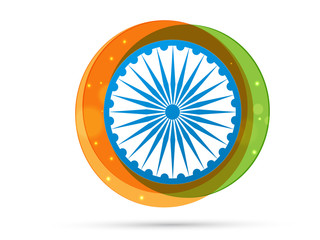 26 January vector creative Indian flag design