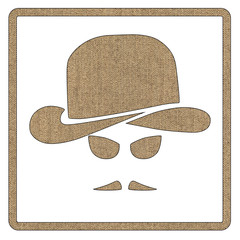 Gentleman icon isolated on white background. Hipster retro style