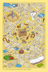 Pipes Maze Game