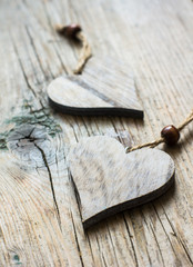 Rustic wooden holiday decorations