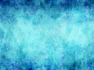 Teal Aqua Blue Watercolor Texture Background