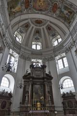 Salzburg Dom cathedral altar, Austria.
