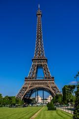 Tour Eiffel (Eiffel Tower) located on Champ de Mars in Paris.