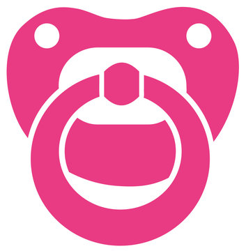 Pink baby girl pacifier