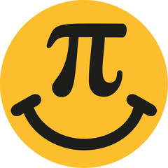 Smiley with pi sign