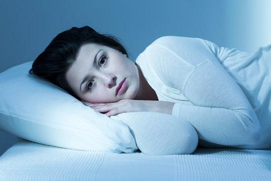 Woman and lack of sleep