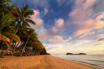 Palm Cove Beach with Double Island, Cairns, Queensland, Australia