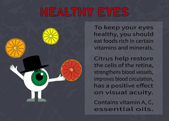 Info about the benefits of citrus for eyesight