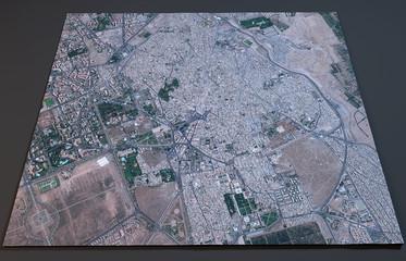 Cartina Marrakesh, vista satellitare, Marocco