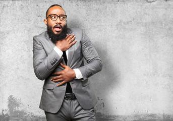business black man scared