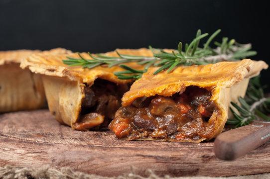 Fresh australian meat pie