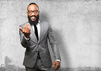 business black man come here gesture