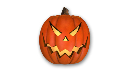 Halloween Pumpkin, Jack O'lantern isolated on white background