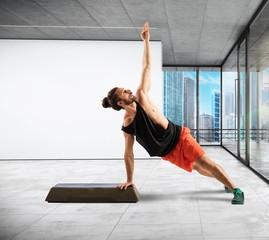 Balance on step