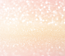 white pink gold glitter bokeh texture  abstract background