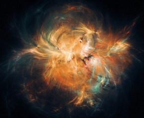 Abstract nebula background.