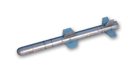 Cruise missile isolated on white background