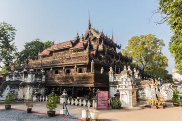 Shwenandaw Kyaung Temple or Golden Palace Monastery in Mandalay,