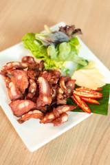 Deep fried sour pork spare rib bone
