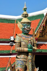 Statue of guardian demon in Royal Thai Palace.