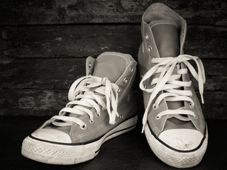 sneakers with filter effect retro vintage style.
