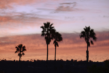 Sunrise at San Elijo Etate Beach campground, California