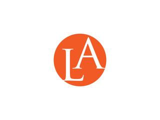 Double LA letter logo
