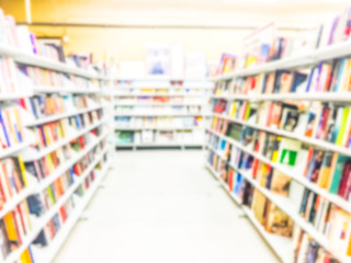 book aisle,some scene in thrift store.-blurred.