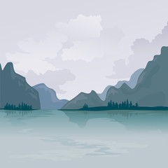 Lake in the mountains, reflection