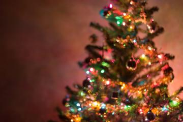 christmas background, image blur bokeh defocused lights