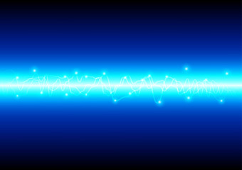 abstract blue light technology background. vector illustration d